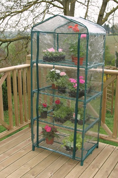 Apollo 4 Tier Mini Greenhouse - 69 x 49 x 160cm - PVC
